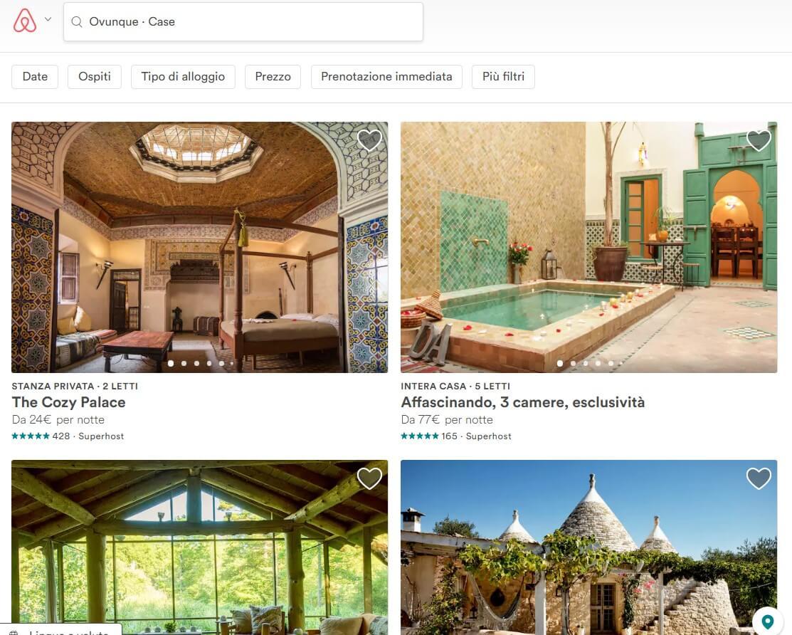 Case vacanze Airbnb