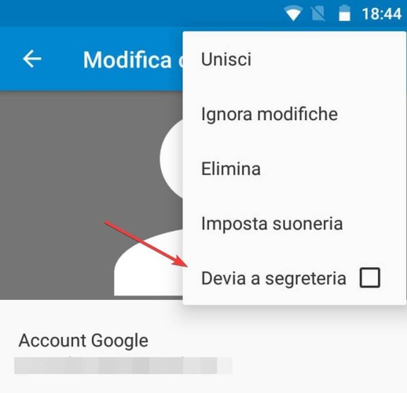 Devia chiamata a segreteria Android