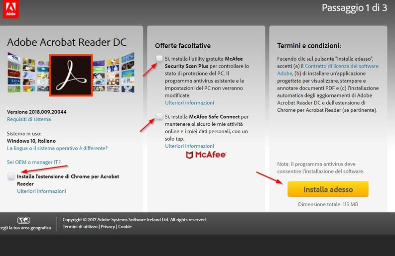 Download di Adobe Acrobat Reader DC