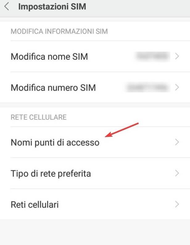 APN Punti di accesso Vodafone