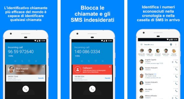 bloccare telefonate android con Truecaller