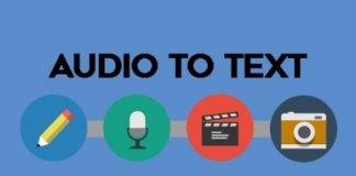 convertire audio in testo