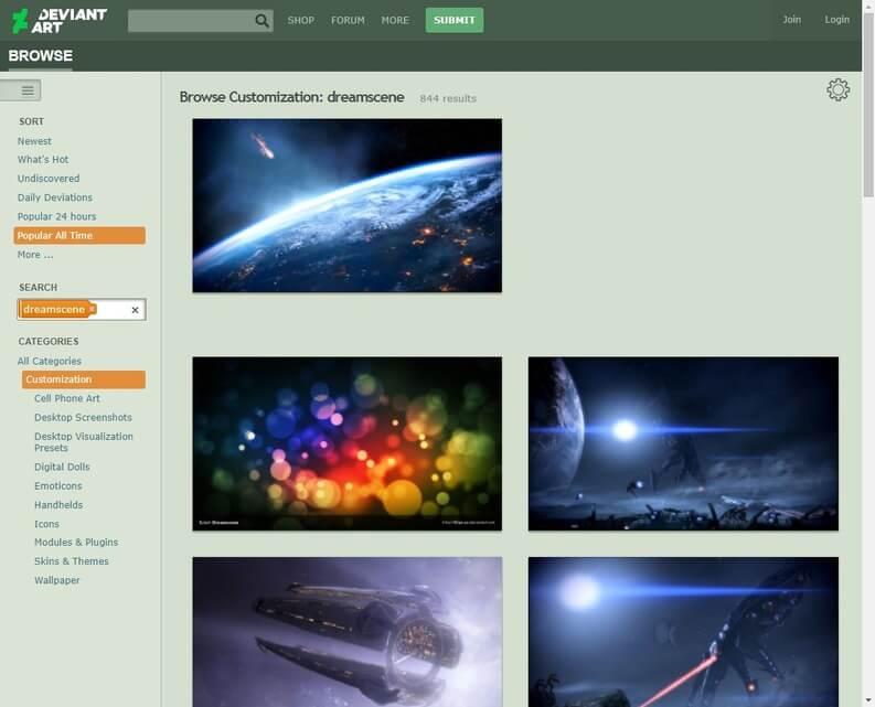 community di artisti deviantart per trovare sfondo animato