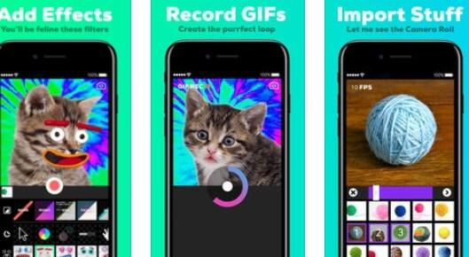 GIPHY per registrare una GIF con effetti