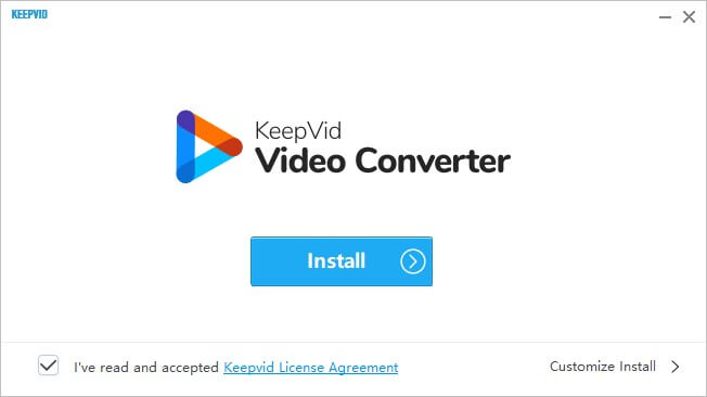Installazione keepvid video converter