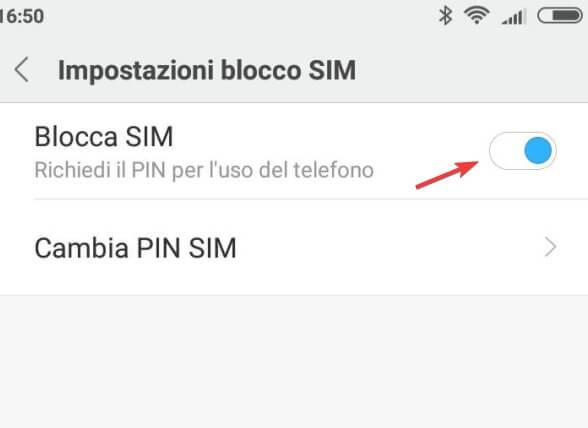 Rimuovere richiesta PIN SIM