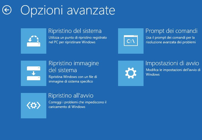 Ripristinare Windows 10