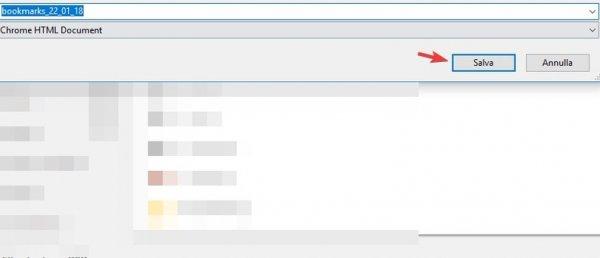 file HTML con tutti i siti esportati
