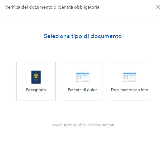 verifica documento coinbase