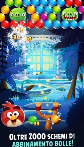 Angry Birds nella variante gratis Bubble_Shooter