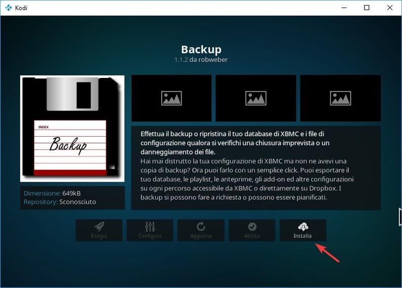 Backup Kodi
