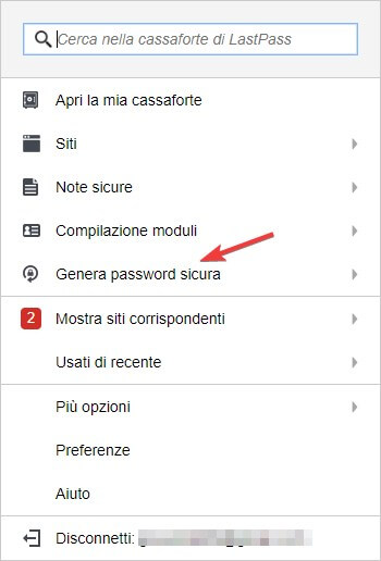 Generare password difficile