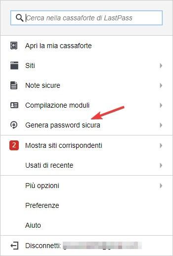 Generare password difficile
