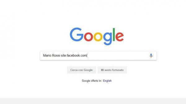 Google ricerca utente facebook senza login