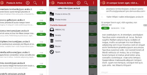 Aruba PEC Mobile Android