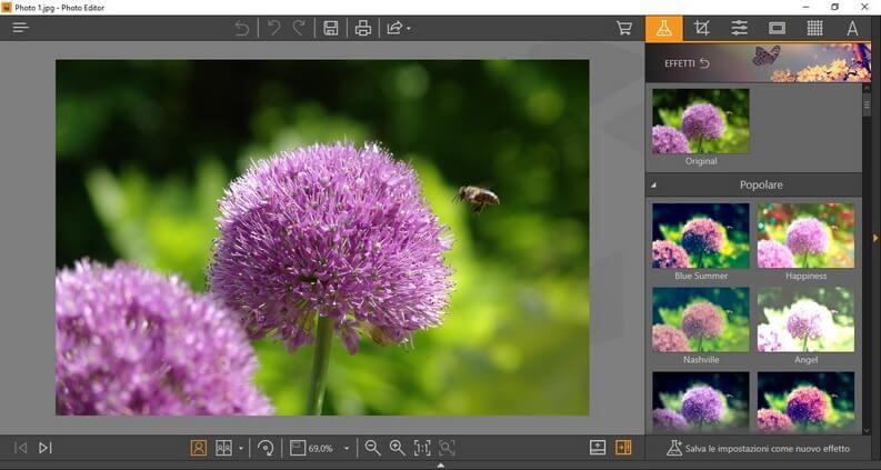 Interfaccia Wondershare Fotophire convert