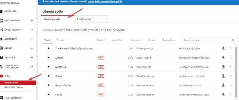 Musica gratuita YouTube