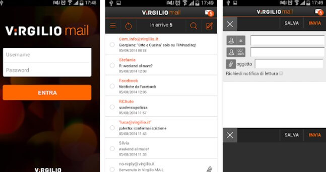 app android Virgilio Mail