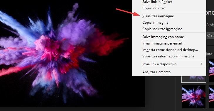 Visualizza immagine Firefox