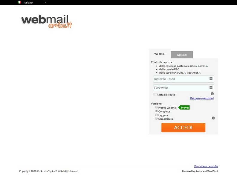 webmail di aruba