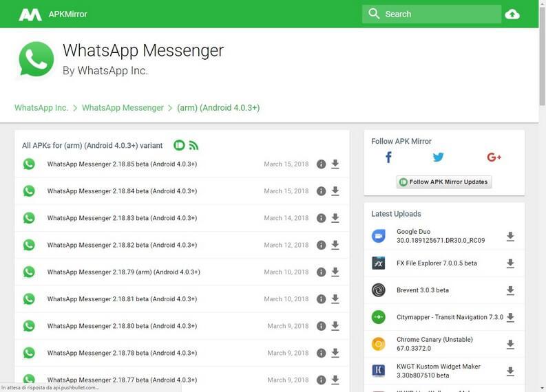 download WhatsApp Messenger APK mirror