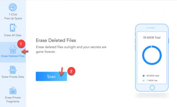 eliminare dati cancellati permanentemente