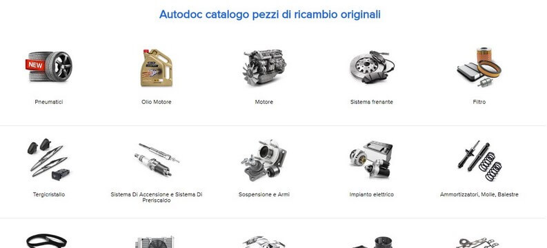 ricambi automobile online