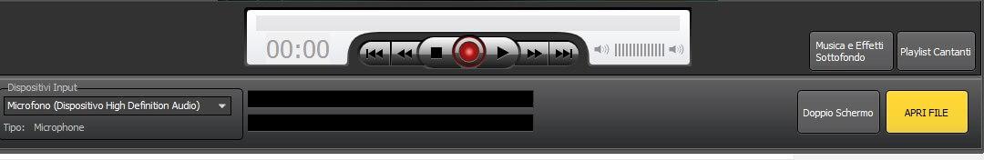 Dispositivi audio e apri file Kanto Karaoke