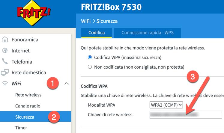 FritzBox 7530 Password Wifi