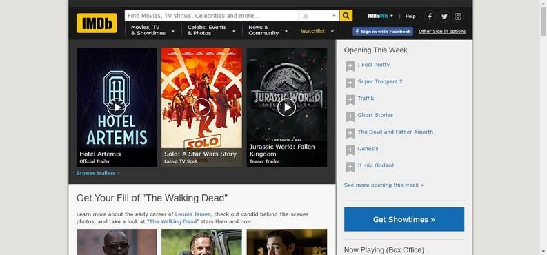 database recensione film IMDb