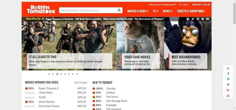 recensioni film su Rotten Tomatoes