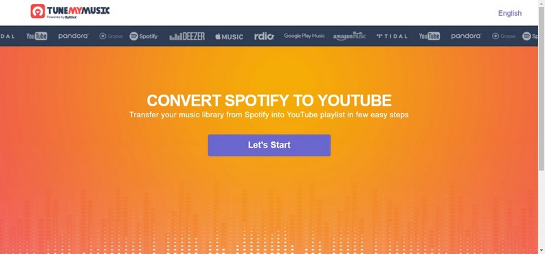 Convertire Spotify in YouTube con Tune My Music