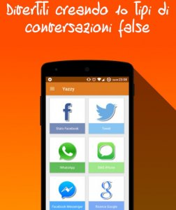 Yazzy conversazioni false