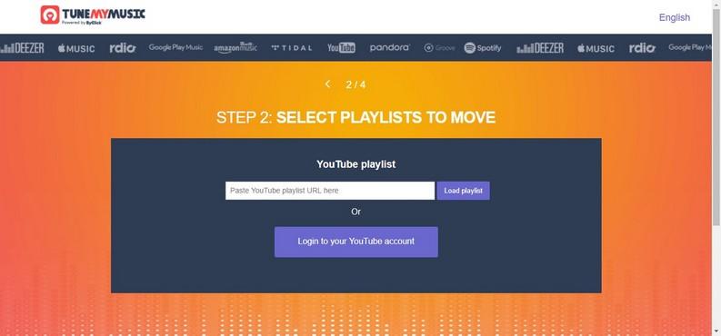 scelta delle playlist da spostare