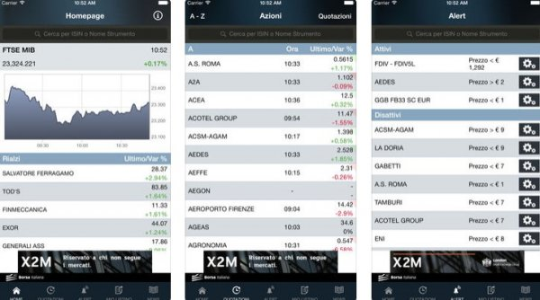 Borsa Italiana su App