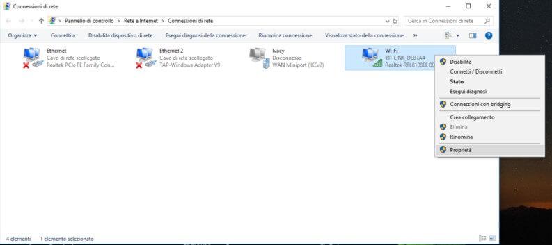 DNS 1.1.1.1 CloudFlare: procedura manuale di impostazione su Windows10