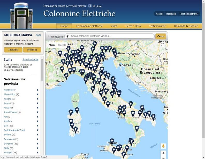Colonnine elettriche di ricarica