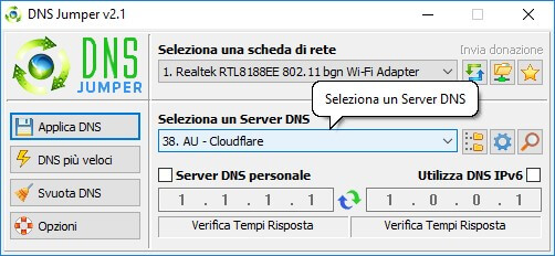 DNS 1.1.1.1 CloudFlare: DNS Jumper