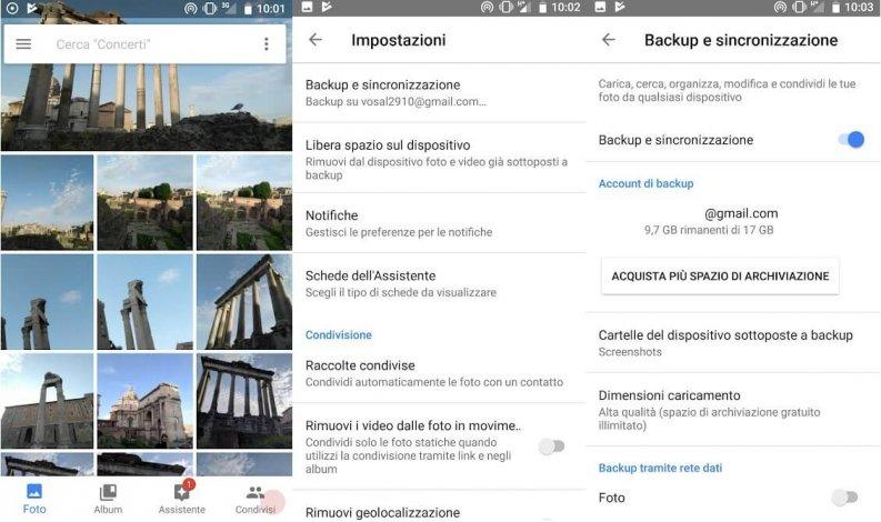 Fotoritocco app: Google Foto Android