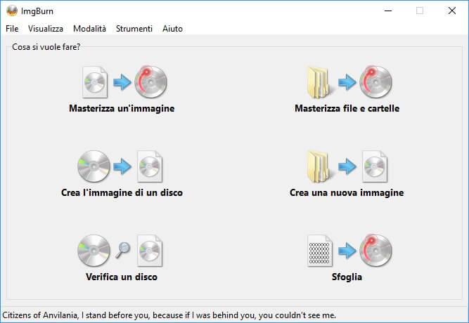 ImgBurn per masterizzare ubuntu