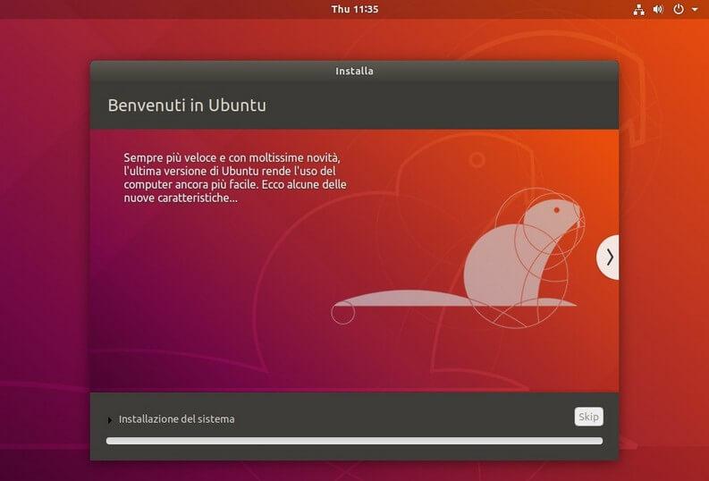 Installazione Ubuntu