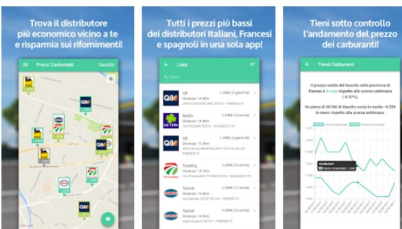 Prezzi Carburanti - App