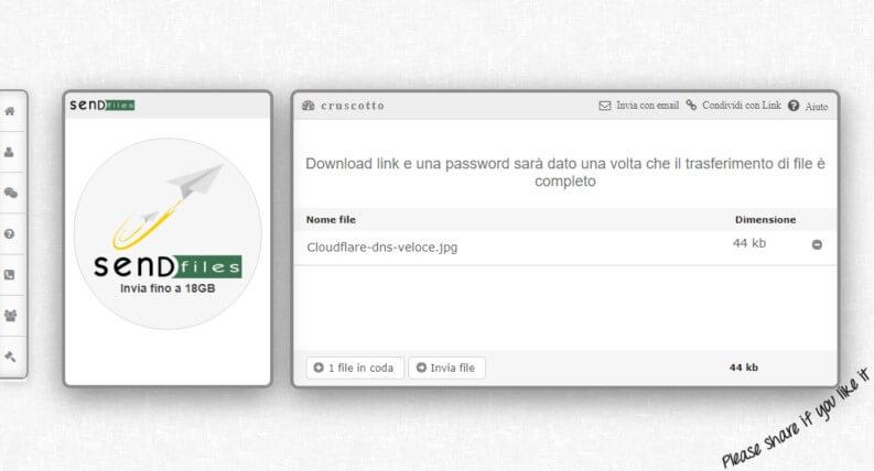 Inviare file: SendFiles