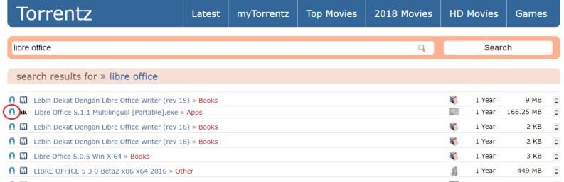 Come utilizzare Torrentz2: ricerca