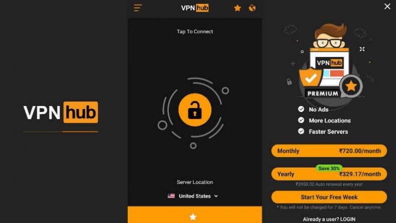 VPN gratis:VPNhub