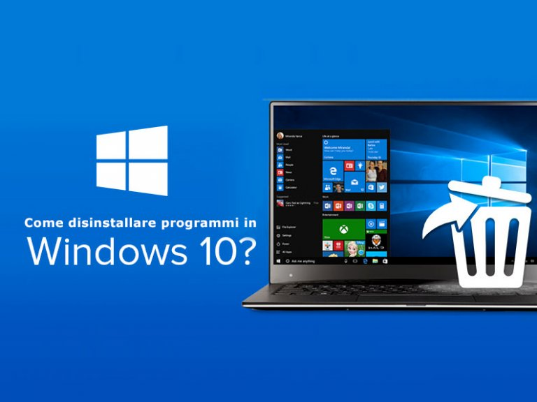 Come disinstallare programmi Windows 10