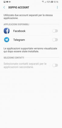 doppio account samsung s9 plus