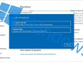 ripristinare reinstallare windows senza perdere dati