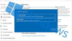 Come reinstallare o ripristinare Windows e mantenere i dati