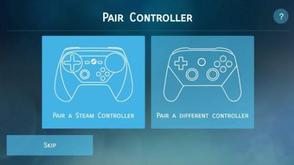 Collega controller a Steam Link